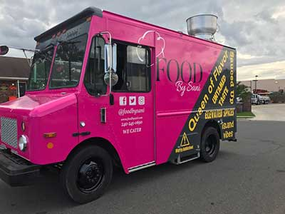 pink truck food